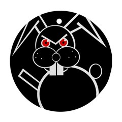 Evil rabbit Round Ornament (Two Sides)
