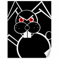 Evil rabbit Canvas 18  x 24