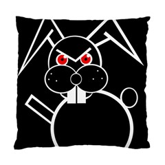 Evil rabbit Standard Cushion Case (Two Sides)