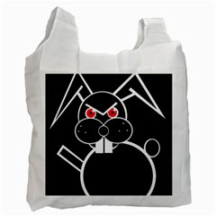 Evil rabbit Recycle Bag (One Side)