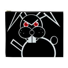 Evil rabbit Cosmetic Bag (XL)