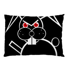 Evil rabbit Pillow Case (Two Sides)