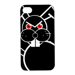 Evil rabbit Apple iPhone 4/4S Hardshell Case with Stand