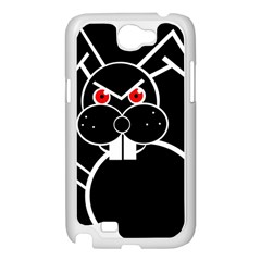 Evil rabbit Samsung Galaxy Note 2 Case (White)