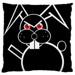 Evil rabbit Large Flano Cushion Case (One Side)