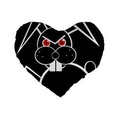 Evil rabbit Standard 16  Premium Flano Heart Shape Cushions