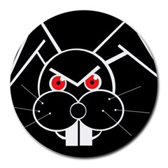 Evil rabbit Round Mousepads