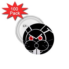 Evil rabbit 1.75  Buttons (100 pack)