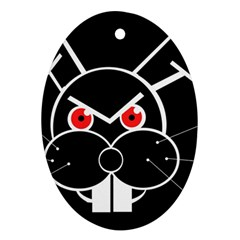 Evil rabbit Oval Ornament (Two Sides)