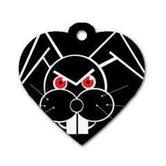 Evil rabbit Dog Tag Heart (One Side)