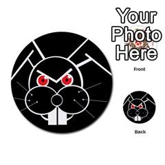 Evil rabbit Multi-purpose Cards (Round)