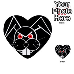 Evil rabbit Multi-purpose Cards (Heart)