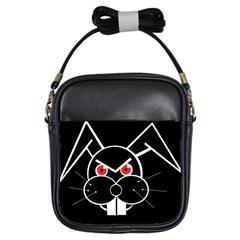 Evil rabbit Girls Sling Bags
