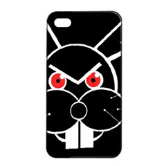 Evil rabbit Apple iPhone 4/4s Seamless Case (Black)