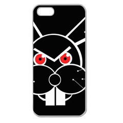 Evil rabbit Apple Seamless iPhone 5 Case (Clear)