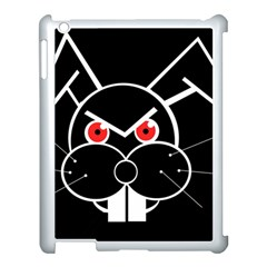 Evil rabbit Apple iPad 3/4 Case (White)