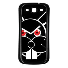 Evil rabbit Samsung Galaxy S3 Back Case (Black)