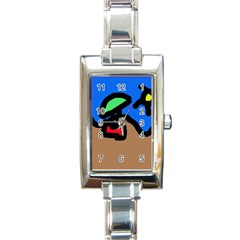 Beach Rectangle Italian Charm Watch