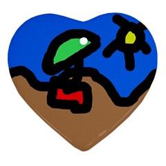 Beach Ornament (Heart)