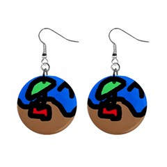 Beach Mini Button Earrings