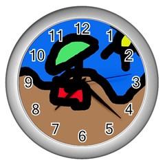 Beach Wall Clocks (Silver)