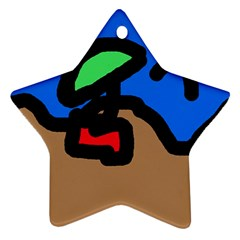 Beach Star Ornament (Two Sides)