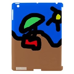 Beach Apple iPad 3/4 Hardshell Case (Compatible with Smart Cover)