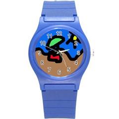 Beach Round Plastic Sport Watch (S)