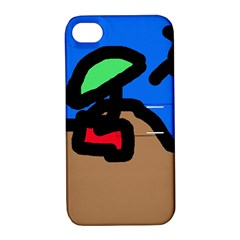 Beach Apple iPhone 4/4S Hardshell Case with Stand