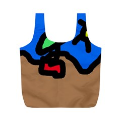 Beach Full Print Recycle Bags (M)