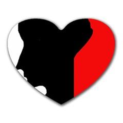 Man Heart Mousepads
