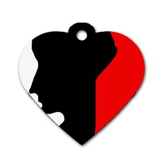 Man Dog Tag Heart (Two Sides)