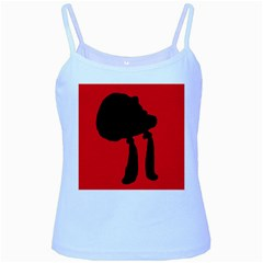 Red and black abstraction Baby Blue Spaghetti Tank