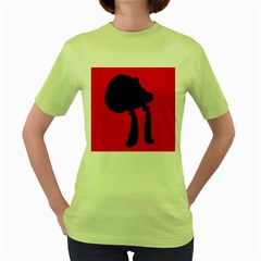 Red and black abstraction Women s Green T-Shirt