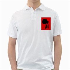 Red and black abstraction Golf Shirts