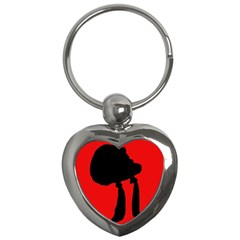 Red and black abstraction Key Chains (Heart)