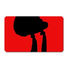 Red and black abstraction Magnet (Rectangular)