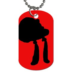 Red and black abstraction Dog Tag (One Side)