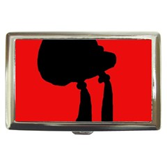 Red and black abstraction Cigarette Money Cases