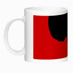 Red and black abstraction Night Luminous Mugs