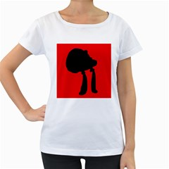 Red and black abstraction Women s Loose-Fit T-Shirt (White)