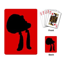 Red and black abstraction Playing Card