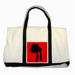 Red and black abstraction Two Tone Tote Bag