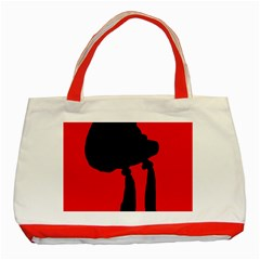 Red and black abstraction Classic Tote Bag (Red)