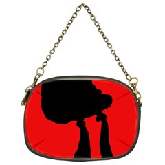 Red and black abstraction Chain Purses (Two Sides)