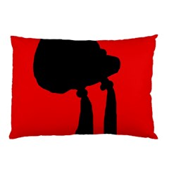 Red and black abstraction Pillow Case