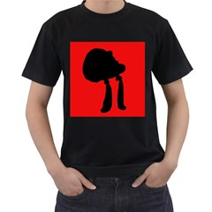 Red and black abstraction Men s T-Shirt (Black)