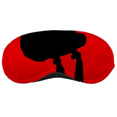 Red and black abstraction Sleeping Masks