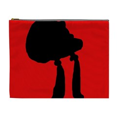 Red and black abstraction Cosmetic Bag (XL)
