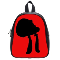 Red and black abstraction School Bags (Small)